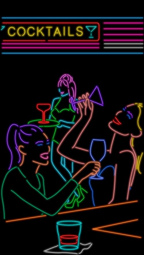 Kate Hush neon art